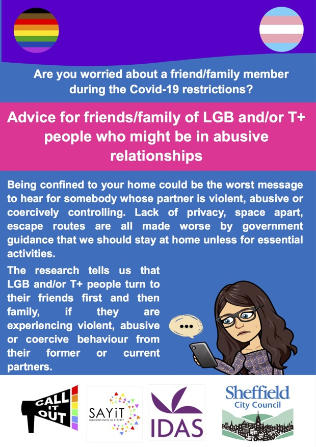 Guidance for friends & family of LGBT victims