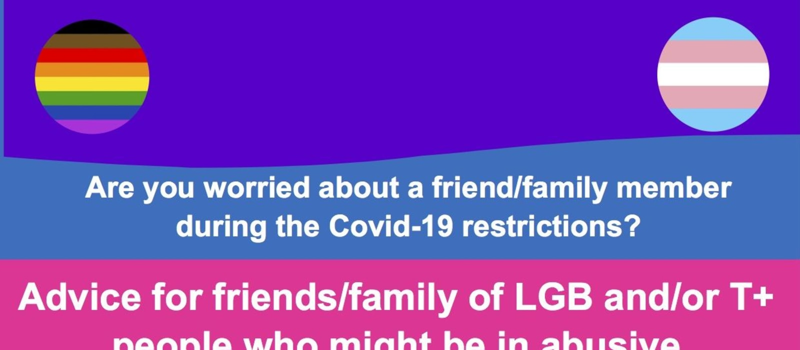 Guidance for people worried about LGBTQ+ friends/family during Covid-19